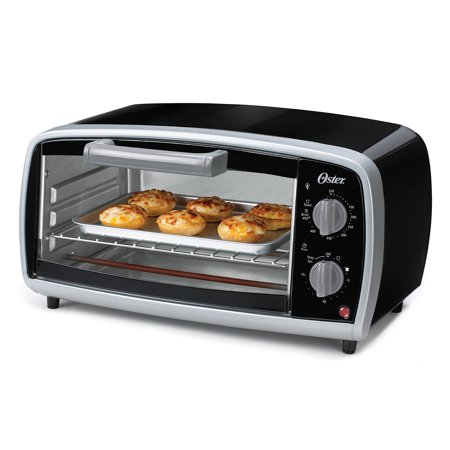 Oster 4-Slice Toaster Oven, Black (TSSTTVVG01) (Best Electric Double Oven)