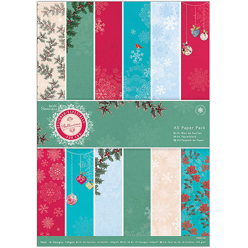 Papermania A5 Paper Pack, 36-Pack, Bellissima Christmas