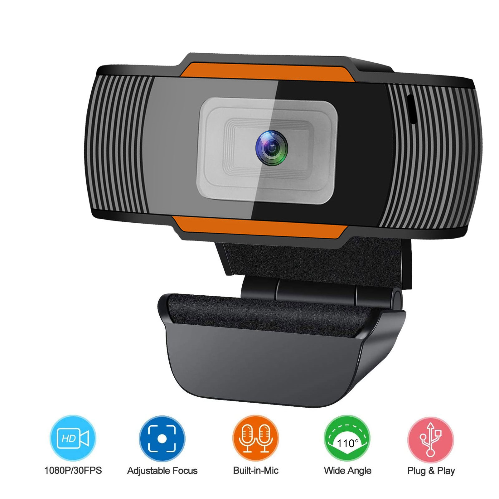 1280x1080 HD Webcam with Microphone for Desktop PC Laptop Video Calling Recording Conferencing Skype Zoom Meeting