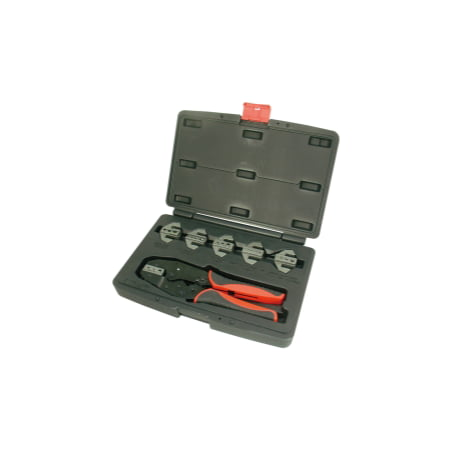 Astro Pneumatic Tool 9477 7-Piece Professional Quick Interchangeable Ratchet Crimping Tool Set