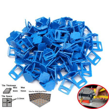 200/400/800PCS White/Blue Plastic Clips Tile Spacers Leveler Ceramic Wall Floor Leveling System Tool