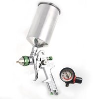 Zimtown 2.5mm 45psi Nozzle Paint Base Primer HVLP Spray Guns Kit Gauge Auto Gravity Feed