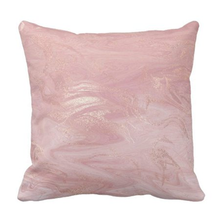 WOPOP Pink Rose Gold Love Marble Molten Abstract Pillowcase Throw Pillow Cover 20x20 inches ()