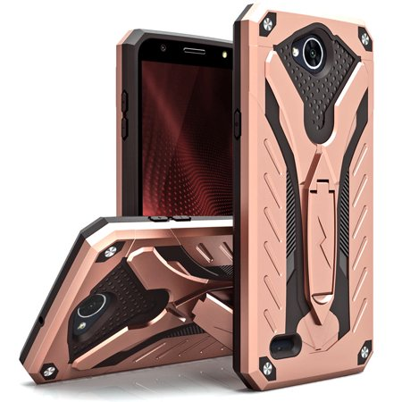 buy online 15008 b763f Zizo STATIC Series compatible with LG X Charge Case Military Grade Drop  Tested with Built In Kickstand LG X Power 2 LV7 Case