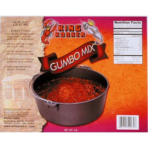 King Kooker Party Size Gumbo Mix by King Kooker