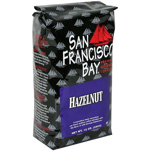 San Francisco Bay Coffee Hazelnut Whole Bean Coffee, 12 oz (Pack of 6)
