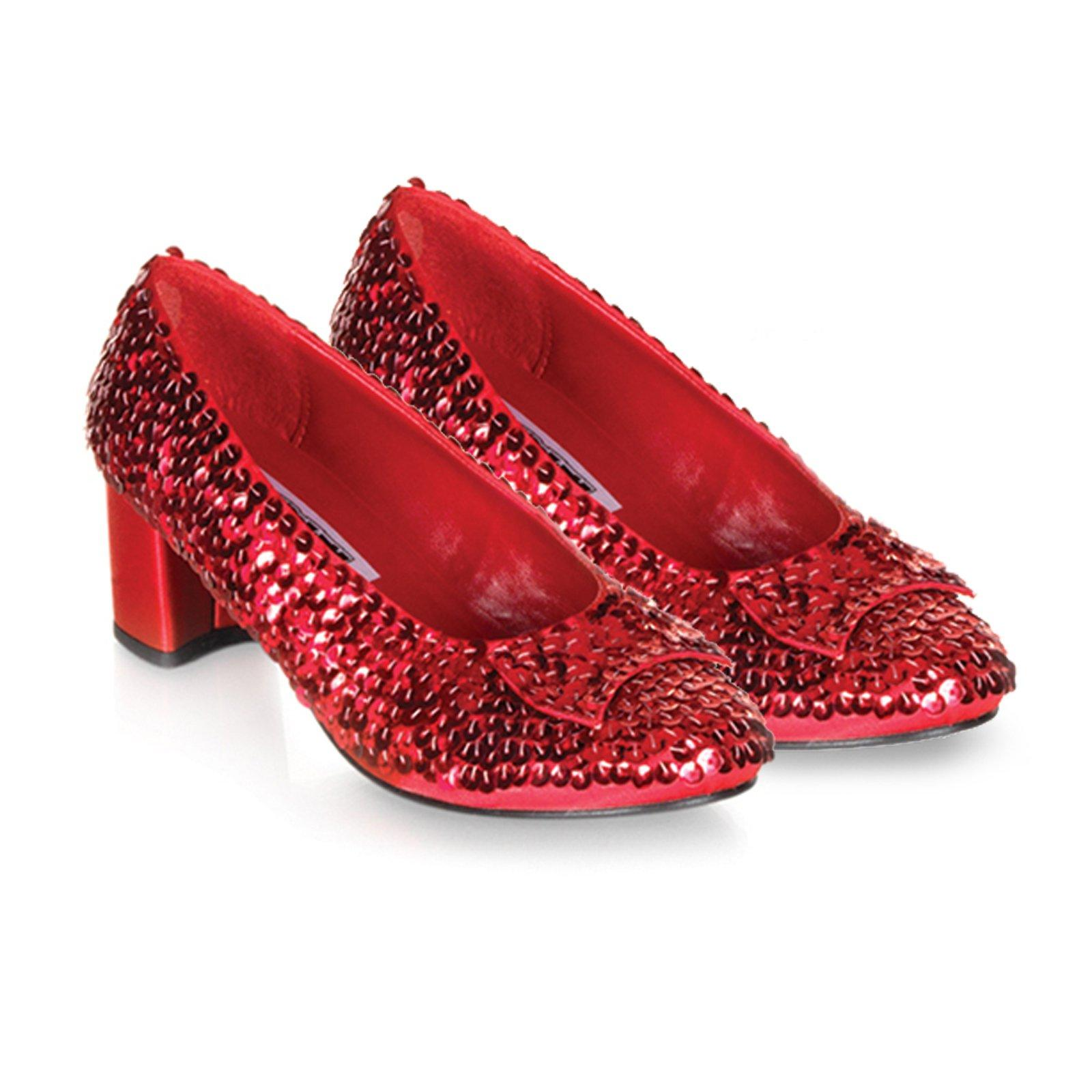 Pleaser - Judy Red Sequin Shoes Girls  Child Costume Accessory - Walmart.com 7a329ef13b0a