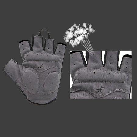 Outdoor Women Road MTB Bike Bicycle Cycling Outdoor Sports Half Finger Gloves - image 4 de 7