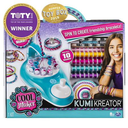 Cool Maker, KumiKreator Friendship Bracelet Maker Kit for Girls Age 8 & Up (Rubber Bands For Bracelets)