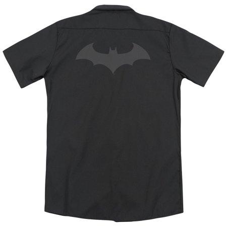 Batman Hush Logo (Back Print) Mens Work Shirt