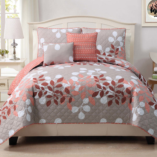 Luxury Home Elory 5 Piece Quilt Set