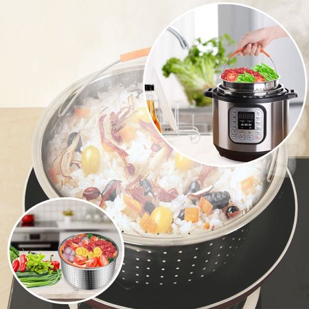 For Instant Pot /Rice Pressure Cooker Food Steam Steamer Basket w/Handle 304 Stainless Steel  - image 2 of 9