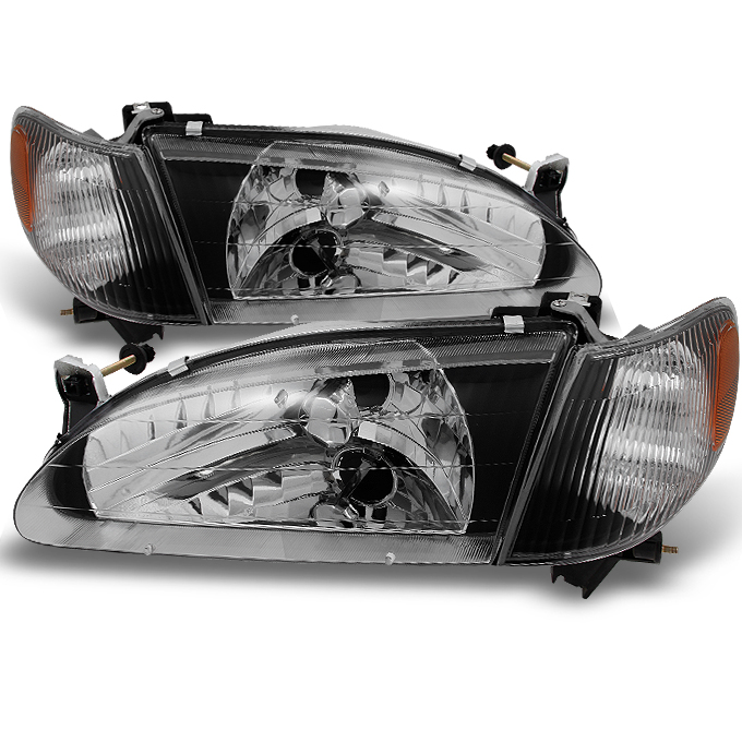 Fits 1998-2000 Corolla Headlights Corner Signal Lamps Lights Set Left+Right