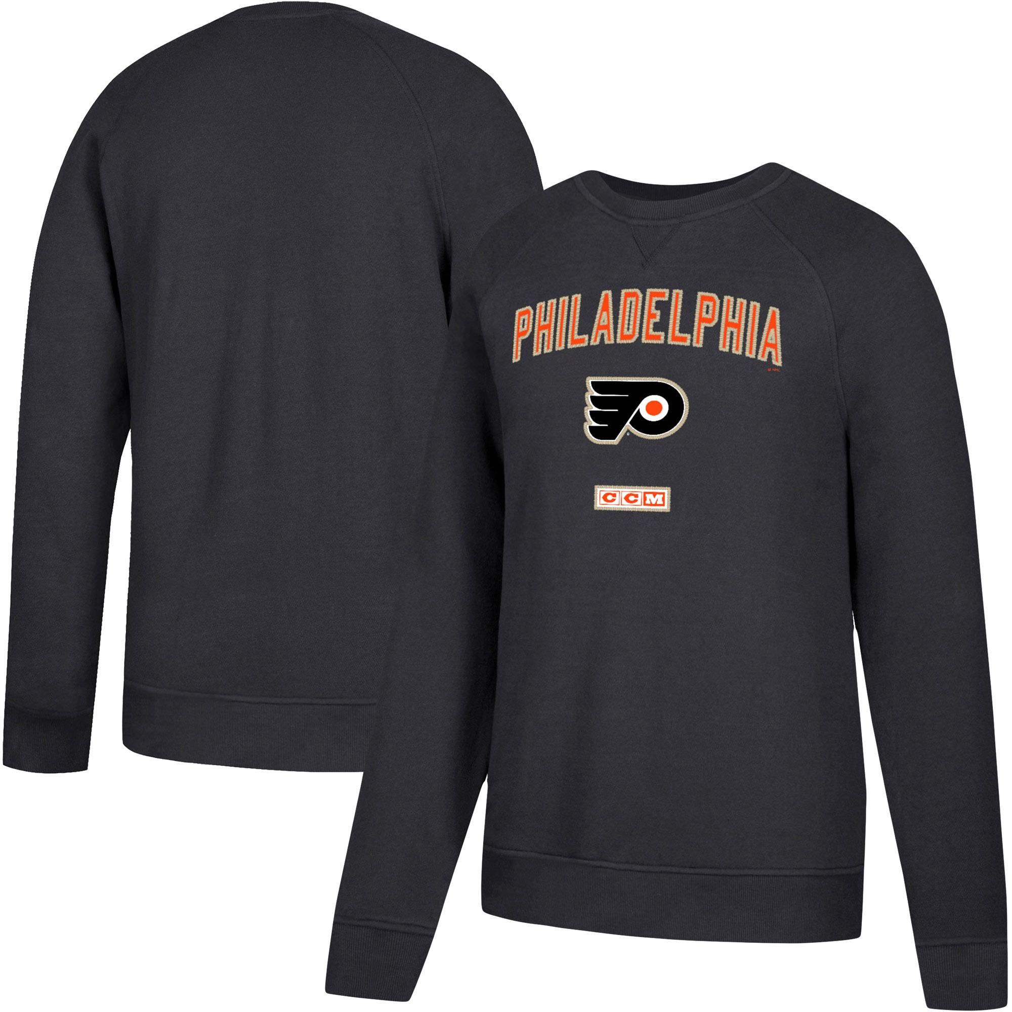 Philadelphia Flyers CCM Fleece Pullover Sweatshirt - Black