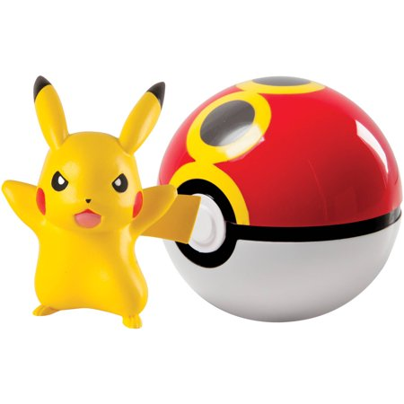 Tomy Pokemon Clip N Carry Poke Ball Pikachu And Repeat Ball
