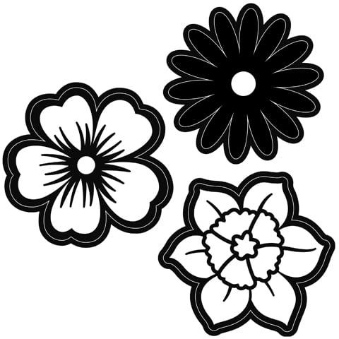 Darice 2014-102 Embossing Essentials Dies-Flowers