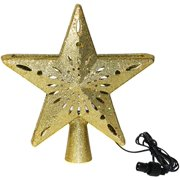 Juslike Christmas Tree Topper Star Projection Lamp LED Top Light for Christmas, Wedding, Party, Home Decoration - Gold/Silver