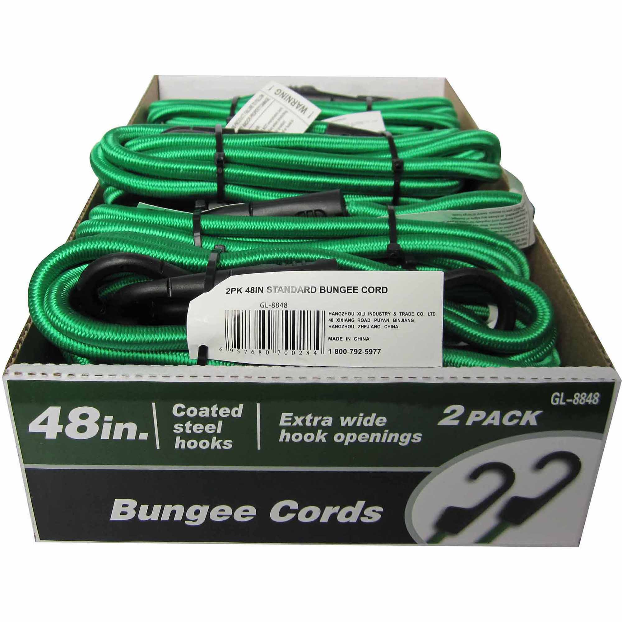 "48"" Standard Bungee Cord, 2 Pack"