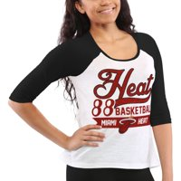 Miami Heat Women's Home Run Three-Quarter Length Raglan T-Shirt - White