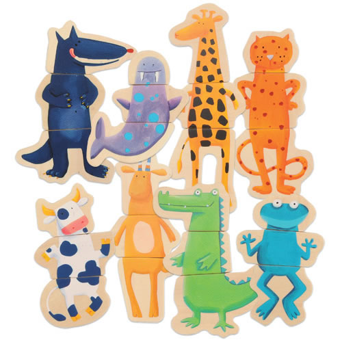 Magnetic Crazy Animal Puzzles