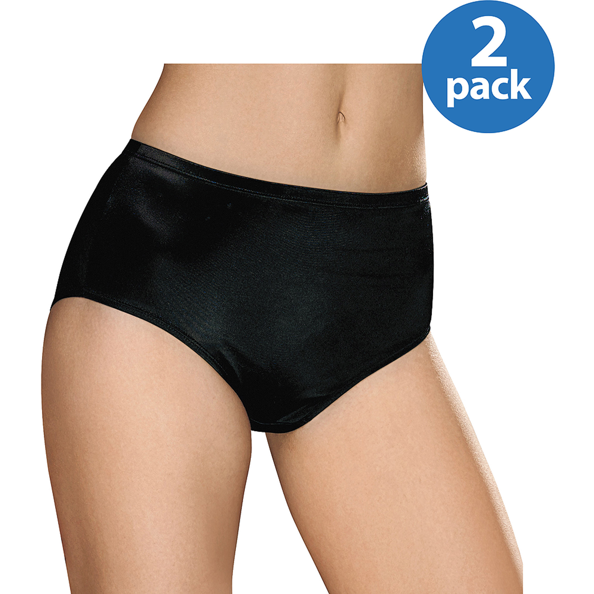 Hanes Women's Specialty Satin Stretch Brief 2 Pack