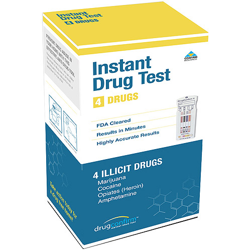 DrugConfirm Instant Drug Test, 4 Panel