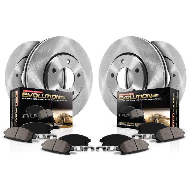 For Acura ILX Honda Civic Front /& Rear Brake Pad Set /& Disc Brake Rotor KIT