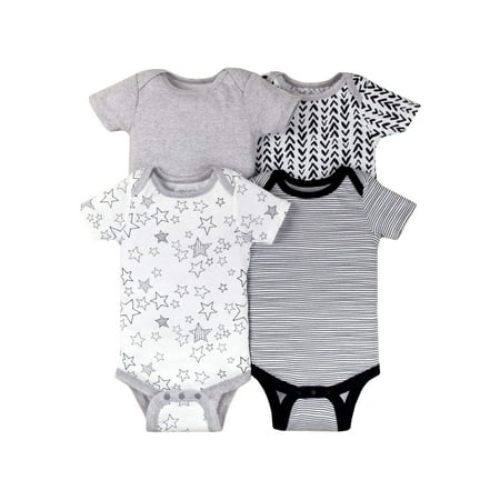 Short Sleeve Bodysuits, 4-pack (Baby Boys OR Baby Girls (Girl Custom Made Baby Onesie)