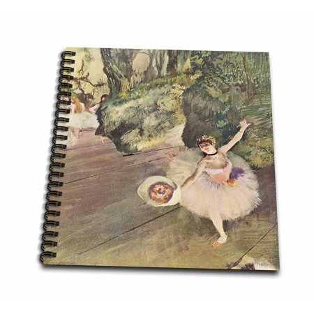 Degas Ballerina Paintings - 3dRose Edgar Degas Painting Take A Bow Of Ballerinas - Drawing Book, 8 by 8-inch