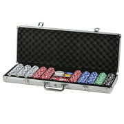 Triumph 500-Piece All-in-One Poker Set with Luggage-Style Aluminum Carrying Case with Two Keys