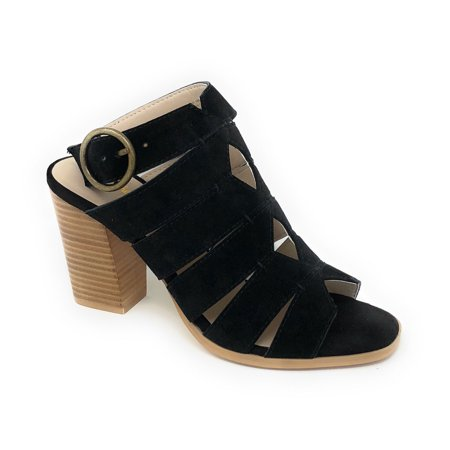 Seychelles Women's Completely Engaged Black Strappy Heeled Sandals