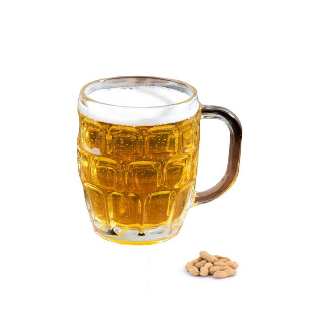 Dimple Stein Irish Beer Glass Mug With Handle-16 oz,Clear ...  Irish Beer Mug