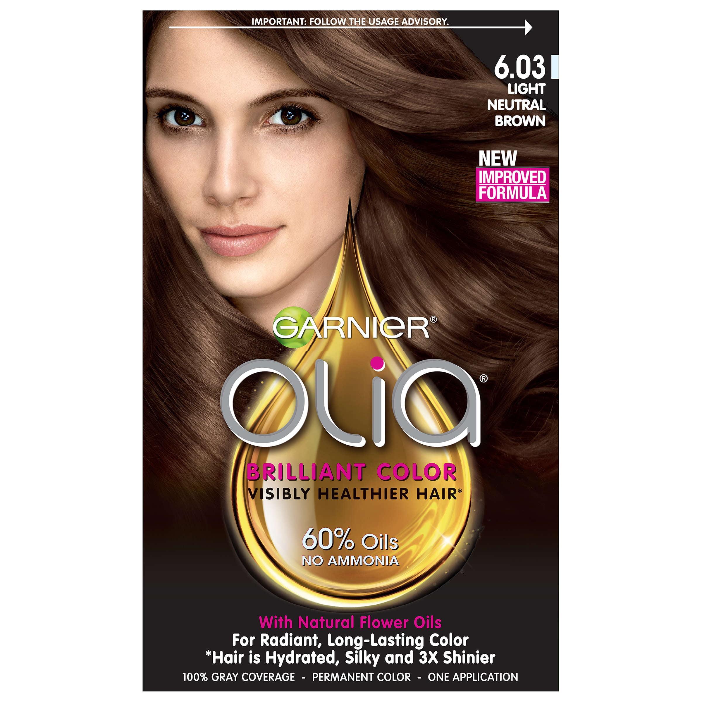 Garnier Olia Oil Powered Permanent Hair Color 6 03 Light