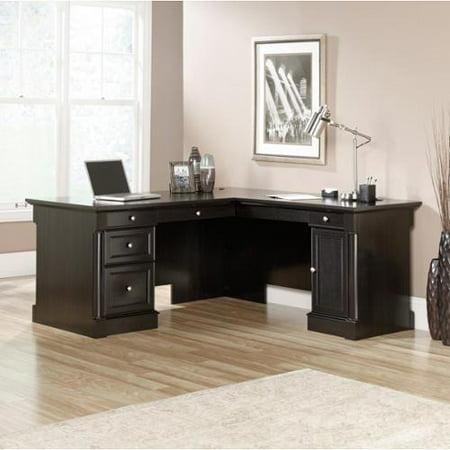 Sauder Furniture 417714 Avenue Eight L Shaped Black Oak Executive Office Desk