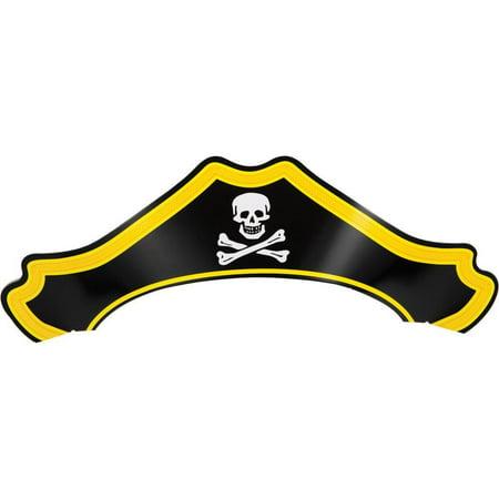 Creative Converting Paper Pirate Hat, 8 ct (Pirate Paper)