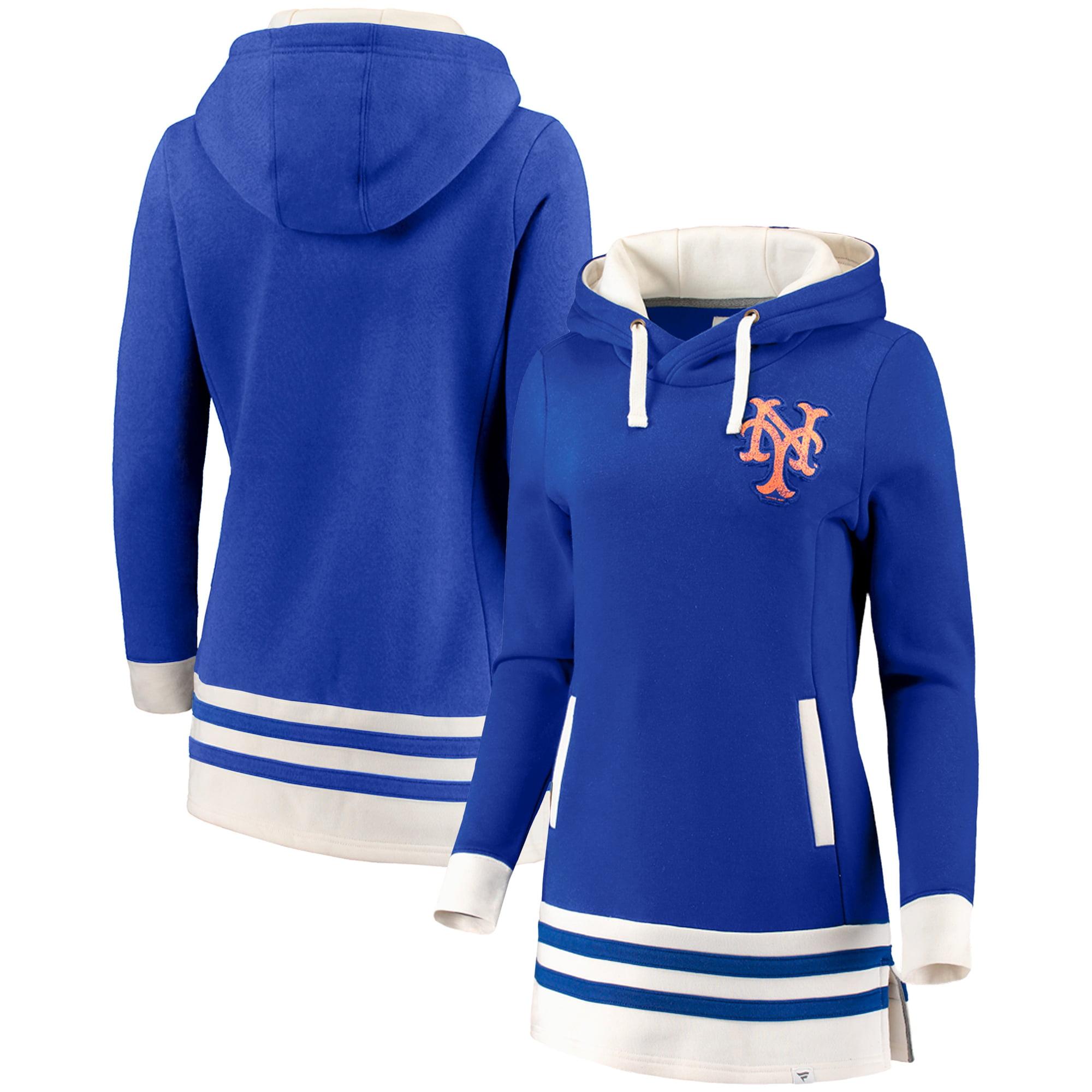 New York Mets Fanatics Branded Women's True Classics Pullover Tunic Hoodie - Royal