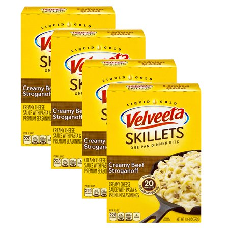 (4 Pack) Velveeta Cheesy Skillets Creamy Beef Stroganoff Dinner Kit, 11.6 oz - Halloween Food For Dinner Parties