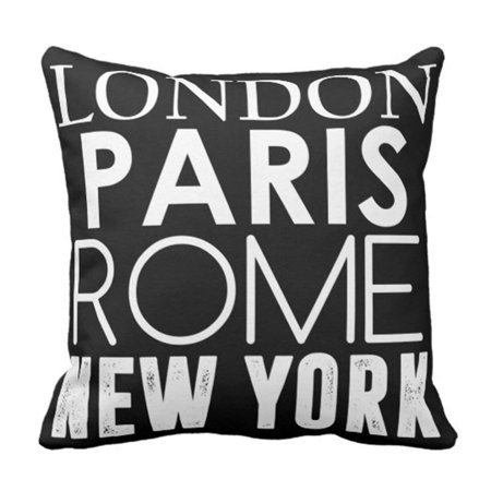 RYLABLUE London Great Cities of the Paris Pillowcase Cover 16x16 inch - image 1 of 1
