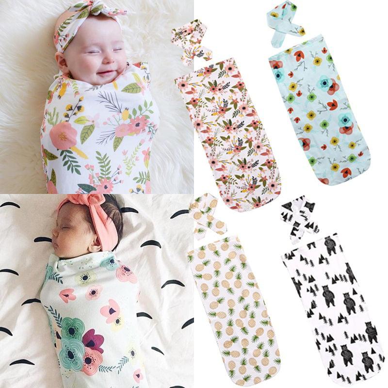 Newborn Fashion Baby Swaddle Blanket Baby Sleeping Swaddle Muslin