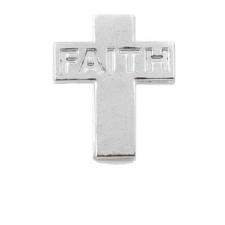 Silver Cross Faith Lapel Pins (Pkg of 12)