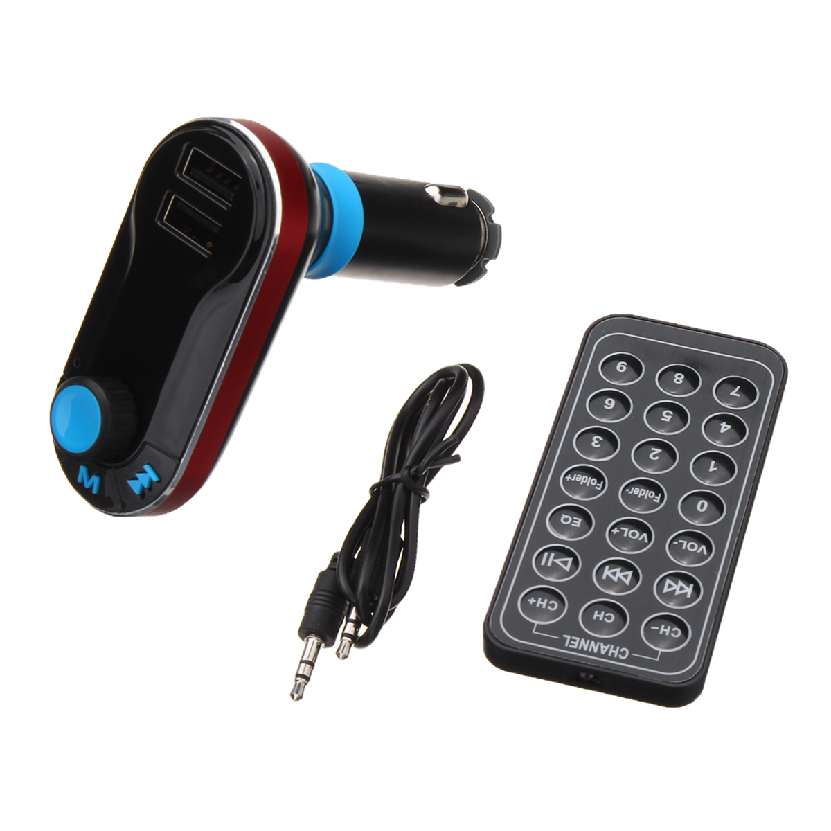 1 Set Wireless Hands-free bluetooth FM Transmitter Modulator Car Kit MP3 Player USB