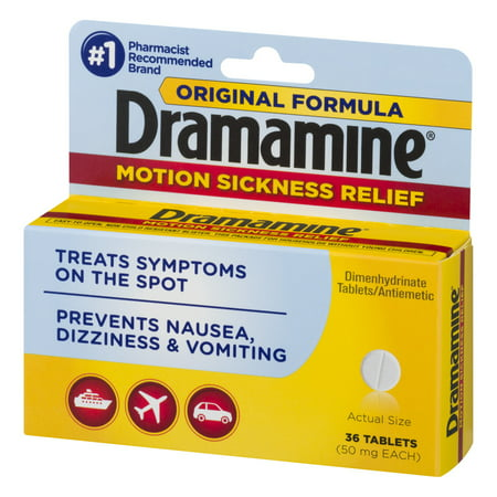 Dramamine Original Formula Motion Sickness Relief, 36 Count