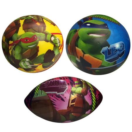 Turtle Balls (Athletic Brands Alliance - Teenage Mutant Ninja Turtles 3 Pack Foam Ball)