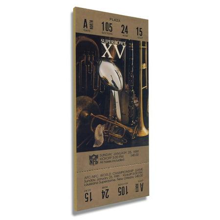 Las Vegas Raiders Super Bowl XV Commemorative Mini-Mega Ticket