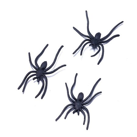Halloween Bug Jokes (30pcs Plastic Spider Bug Joking Toys Trick Halloween Party Prank Decoration)