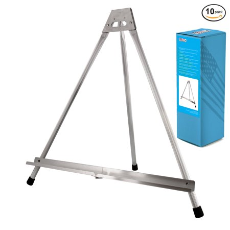 10Pk US Art Supply Aluminum Tabletop Easel Tri-Pod Display Table Top Rubber Feet (Table Top Easel)