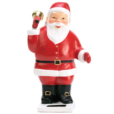 Eco Bells (Solar Powered Santa - Polyresin - Eco-Friendly 3.5