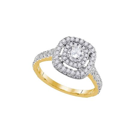 14kt Yellow Gold Womens Round Diamond Solitaire Bridal Wedding Engagement Ring 1-1/5 Cttw - image 1 of 1