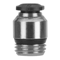 AIGNEP USA 50115N-3-M5-PK5 Swivel Elbow,90 Deg,TubexBSPP,3x5mm,PK5