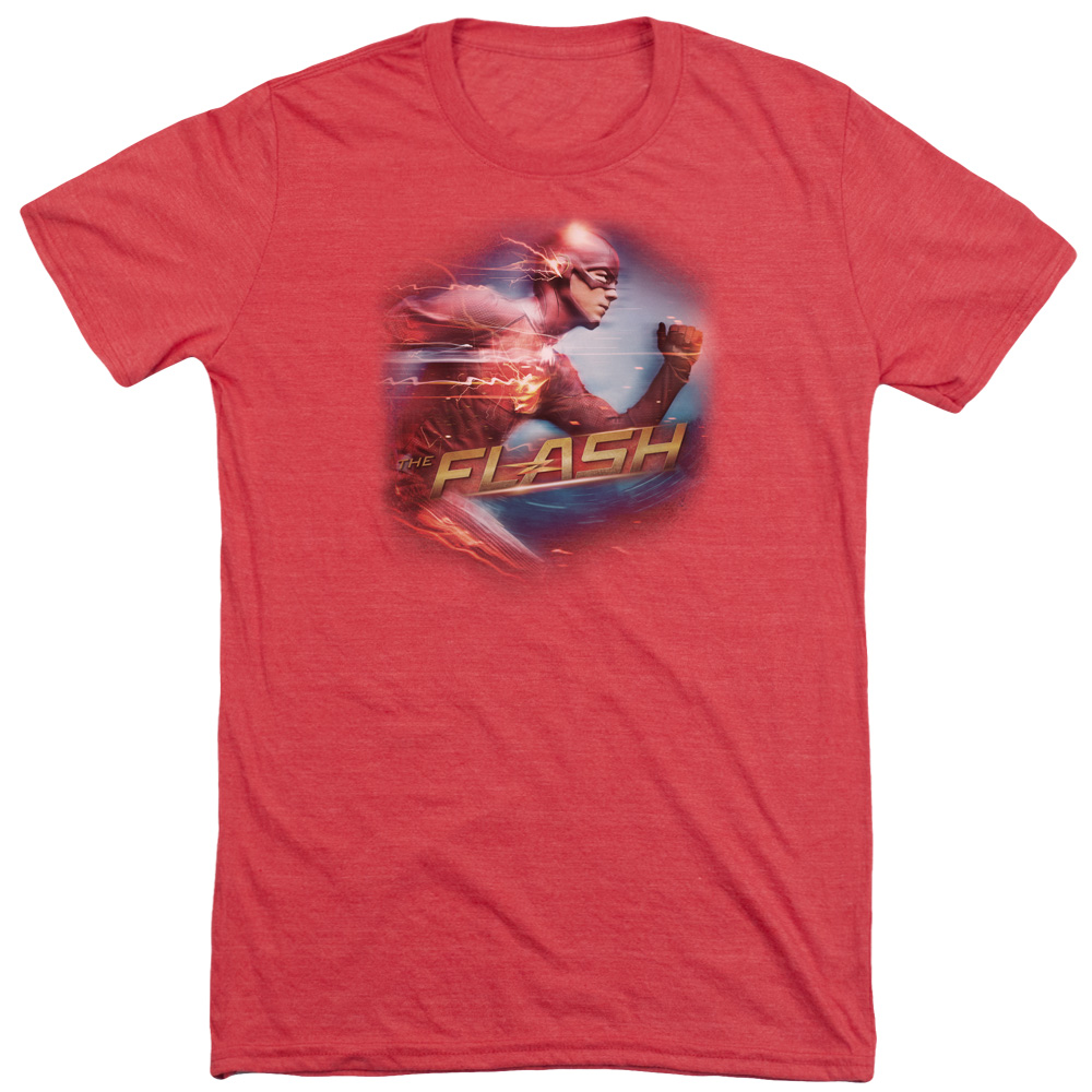 The Flash Fastest Man Mens Tri-Blend Short Sleeve Shirt